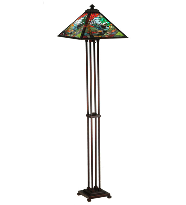 Tiffany Style River of Life Floor Lamp