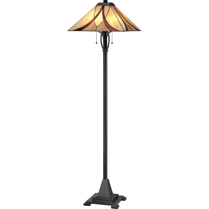 Asheville Stained Glass Floor Lamp