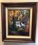 framed with walnut frame
