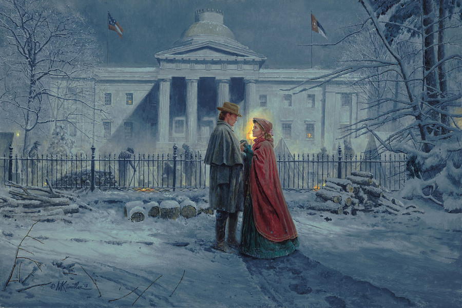 NC Capitol Farewell by Mort Kunstler