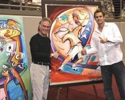 Tennis star Andy Roddick with Alfred Gockel