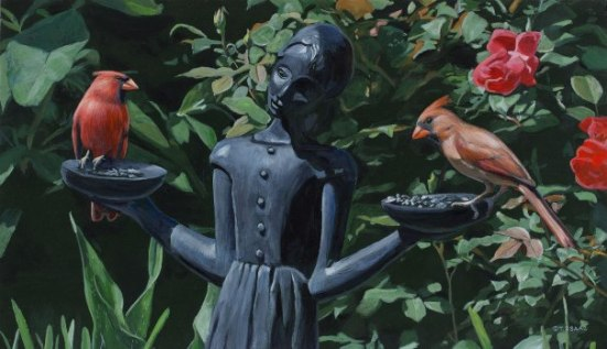 The Bird Girl painting by Terry isaac