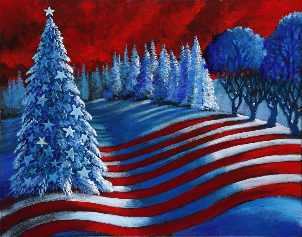 New patriotic Christmas art by Ford Smith