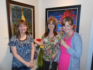 Girls having a good time at Ashley's Art Gallery