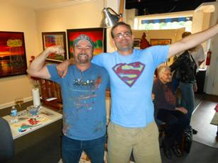 Artist Ford Smith and Christopher Reed