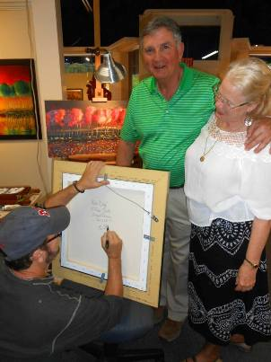 Ford Smith Clients getting painting personalized