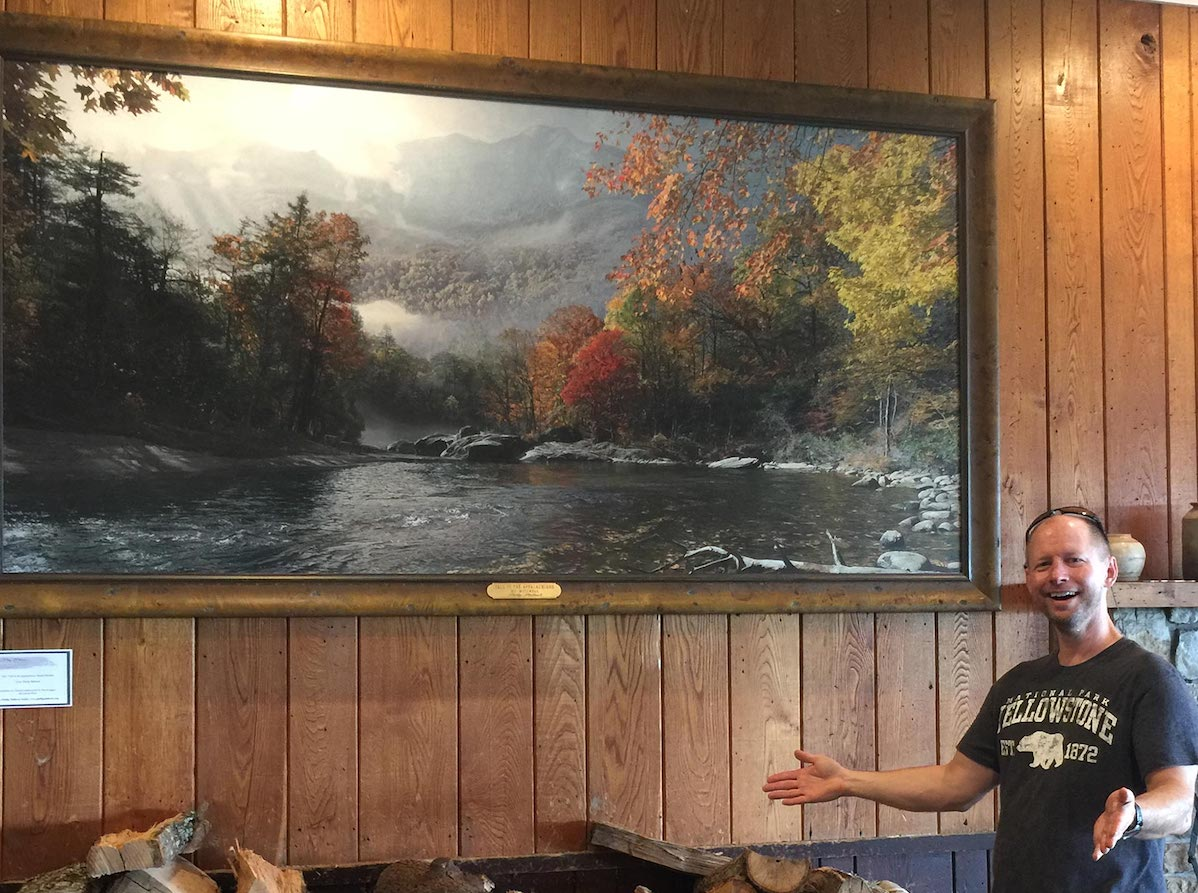 NC artist Phillip Philbeck with Fall in the appalachians