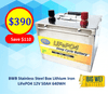BWB 12.8V 50Ah 640WH Lithium Iron LiFePO4 Deep Cycle Battery Stainless Box