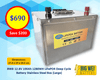 BWB 12.8V 100Ah 1280WH Lithium Iron LiFePO4 Deep Cycle Battery Stainless Box