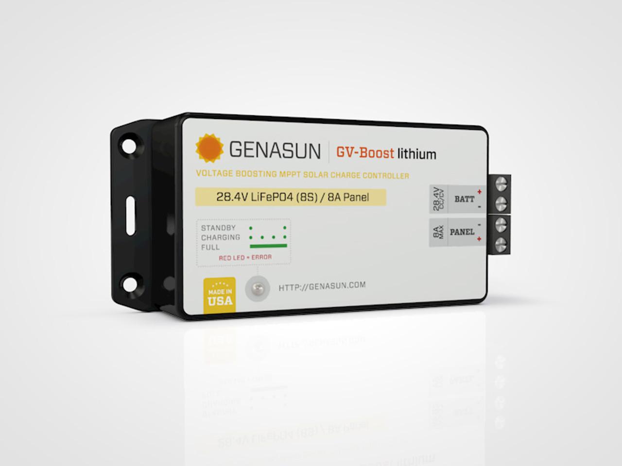 GVB-8 | 105W 8A 12V Genasun MPPT Boost Solar Charge Controller - Li - Left1