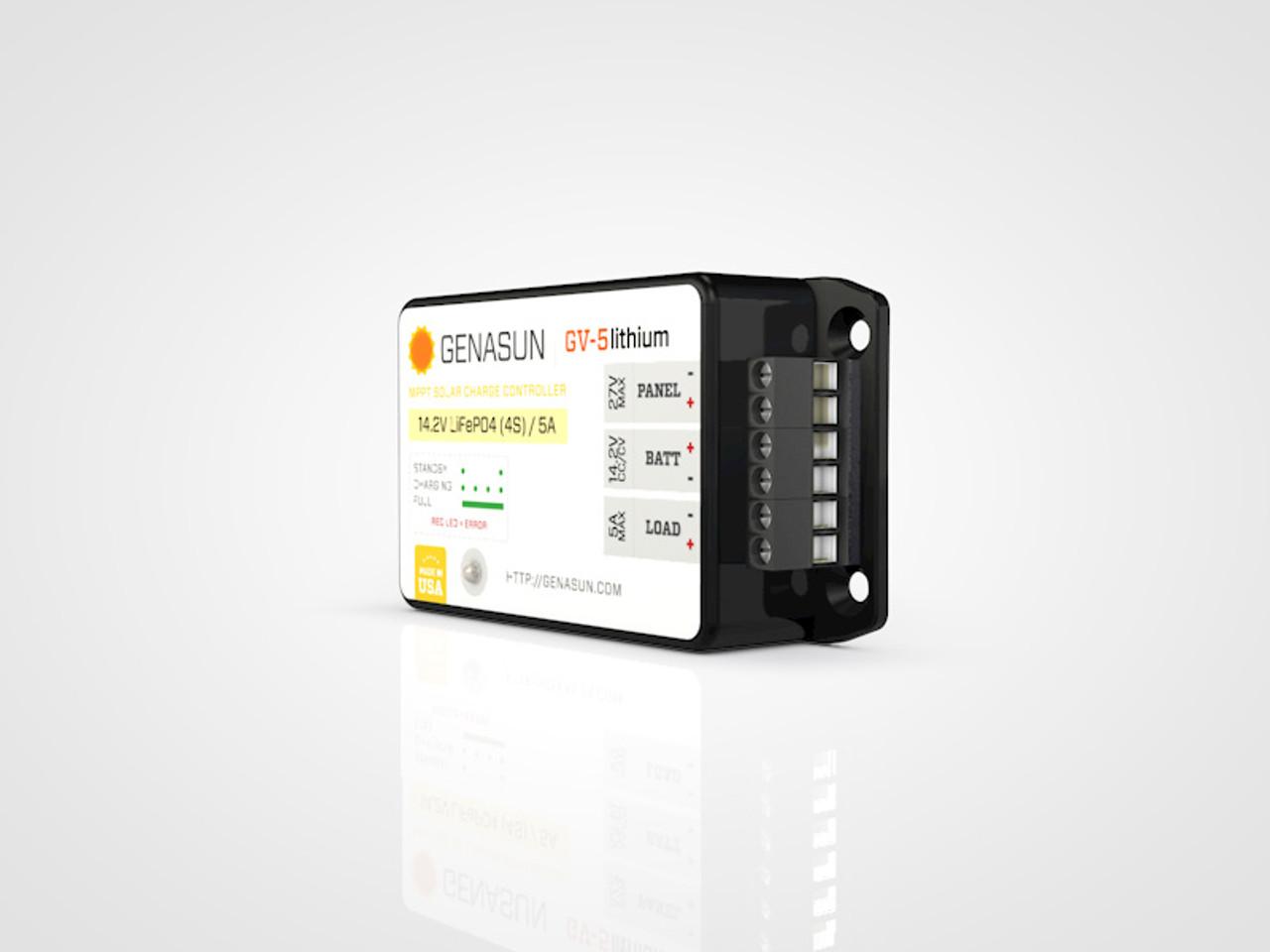 GV-5 | 65W 5A 14.2V Genasun MPPT Solar Charge Controller - Li  - Right2