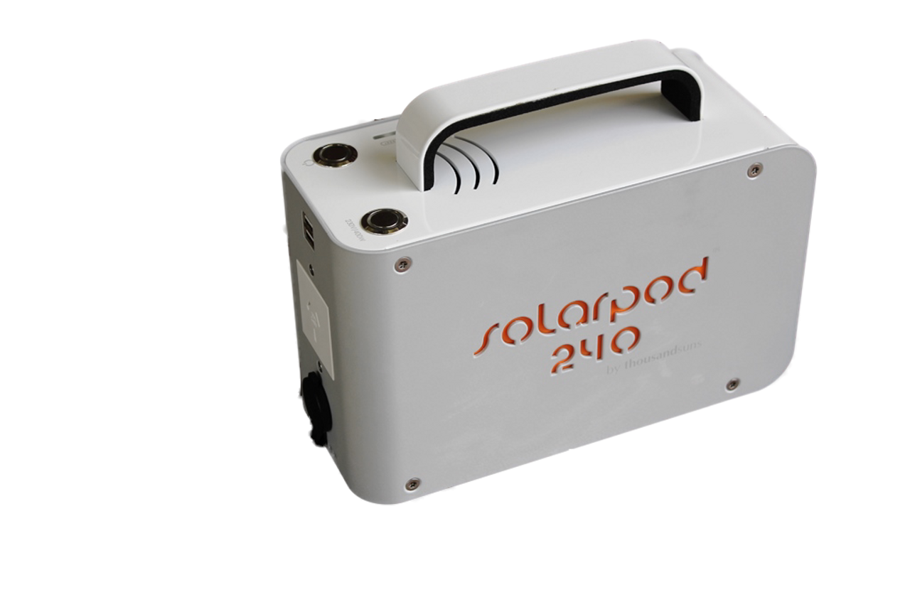 Solarpod 240 Lithium Power Pack Rev 1 (Metal Case) Demo