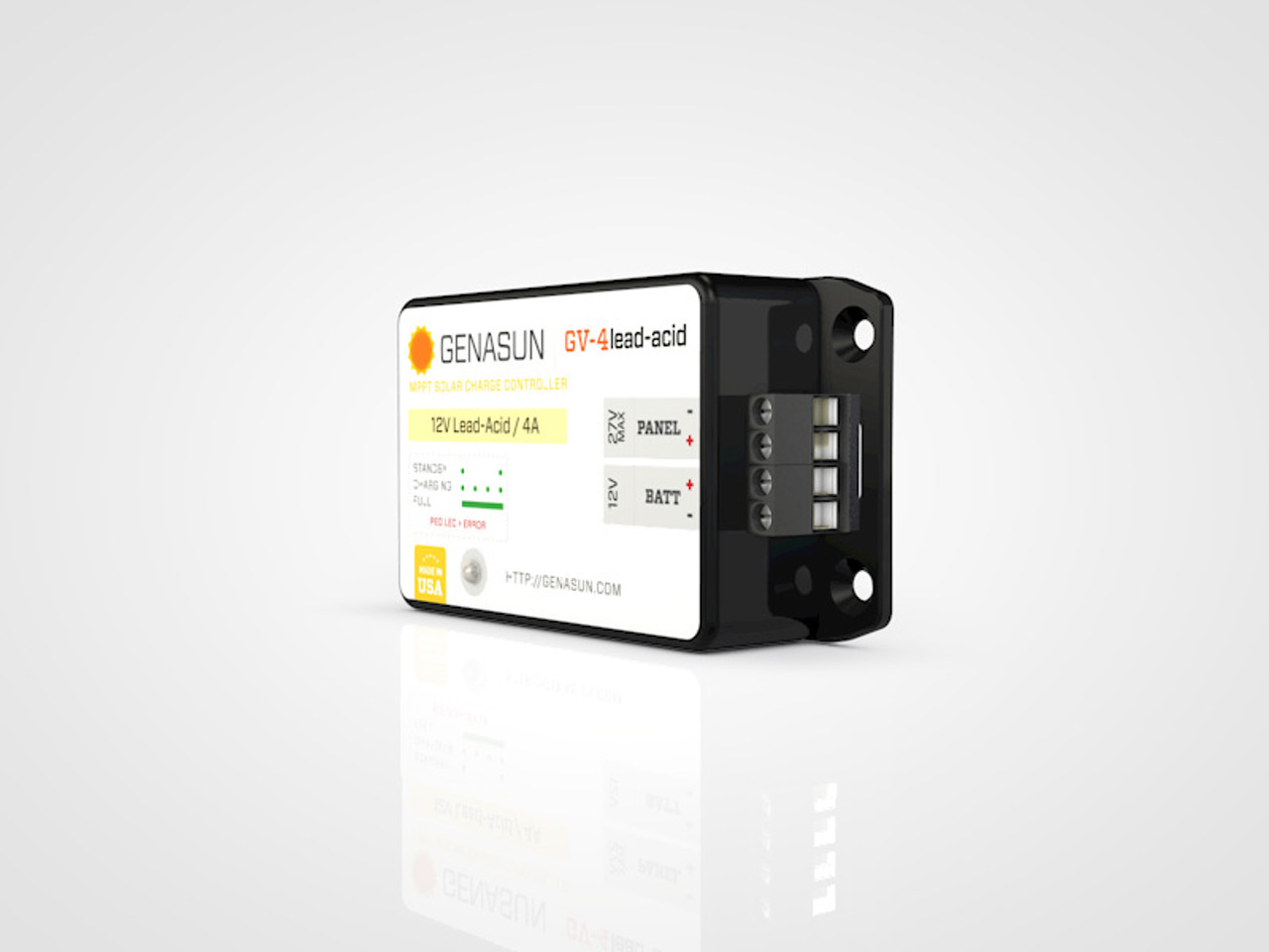 GV-4 | 50W 4A Genasun MPPT Solar Charge Controller - Pb - Right2
