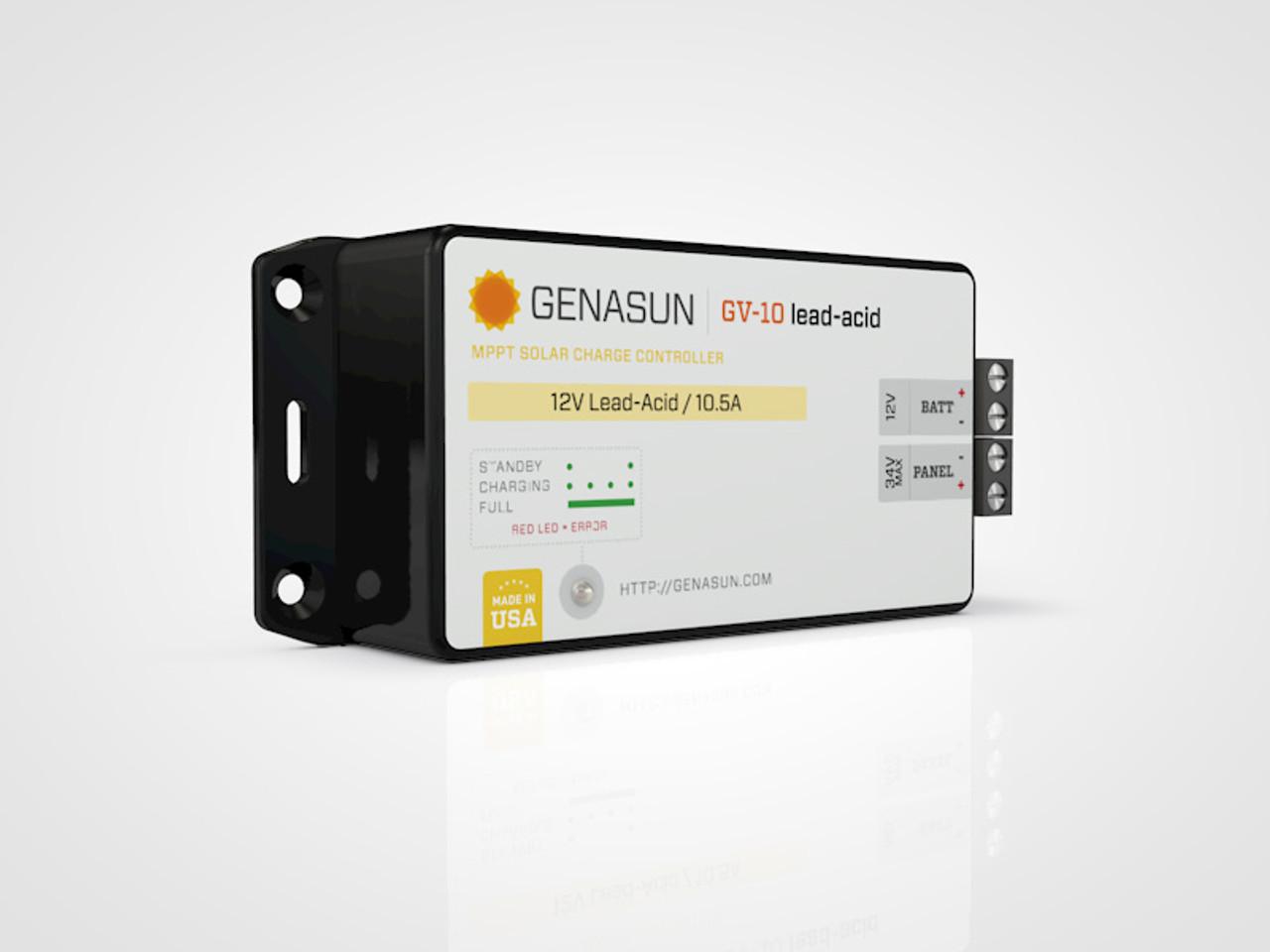 GV-10 | 140W 10.5A Genasun MPPT Solar Charge Controller - Pb - Left2