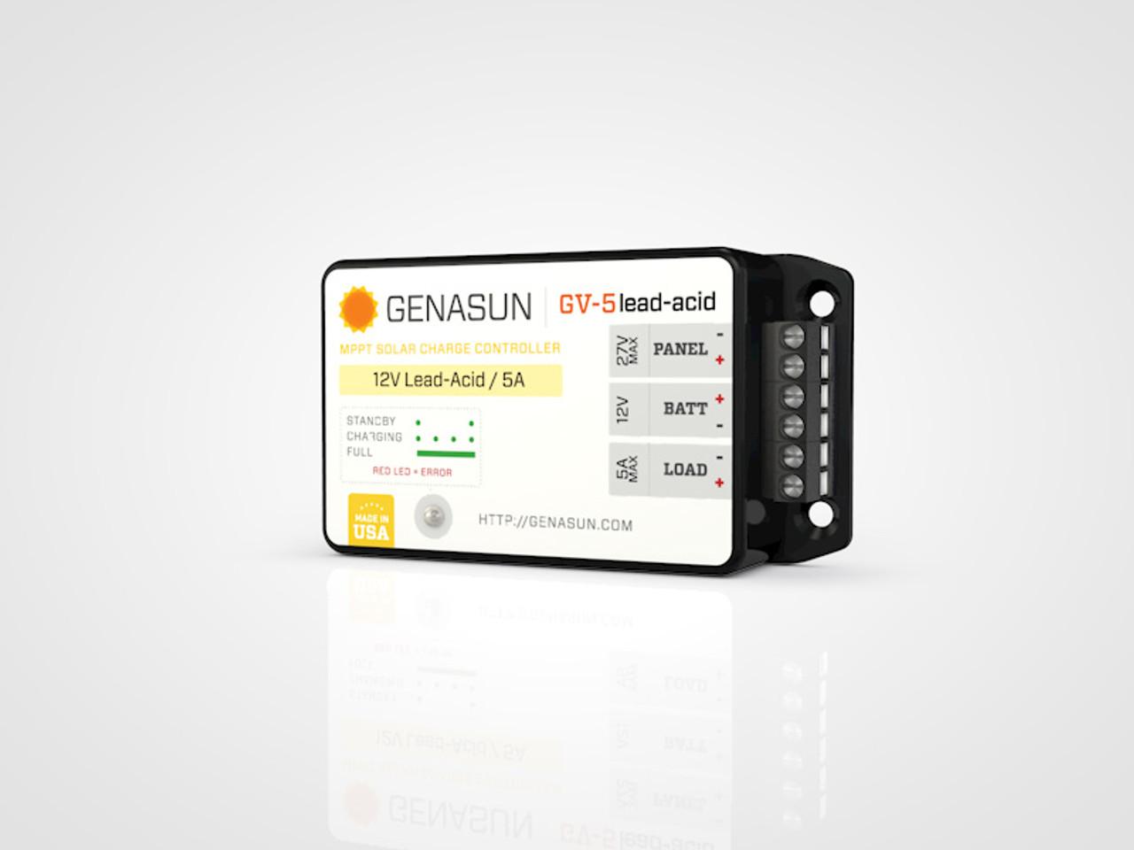 GV-5   65W 5A Genasun MPPT Solar Charge Controller - Pb - Right1