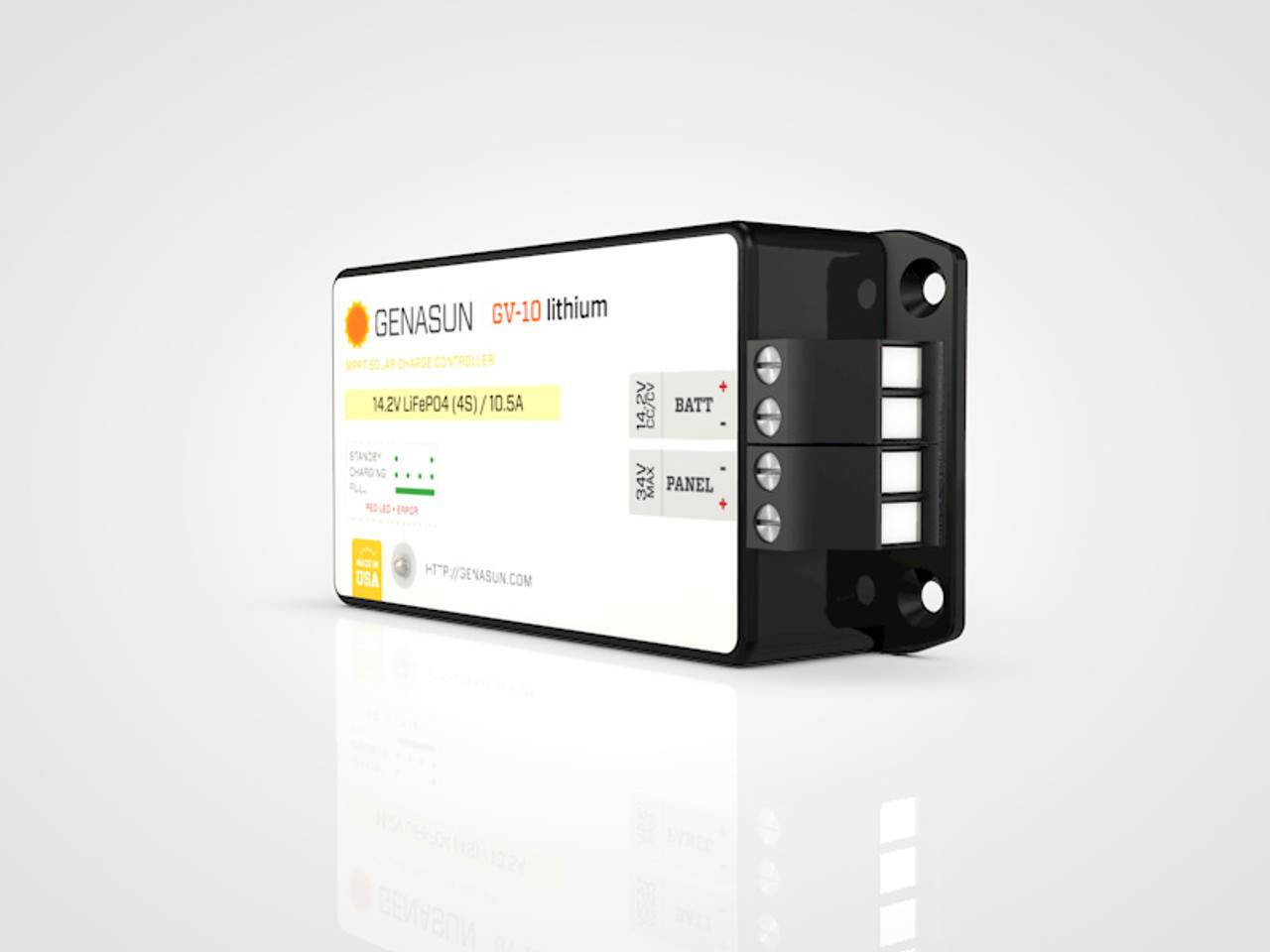 GV-10 | 140W 10A 14.6V Genasun MPPT Solar Charge Controller - Li - Right2