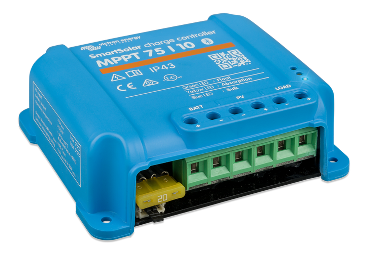 Victron SmartSolar MPPT 75/10 Charge Controller - Left