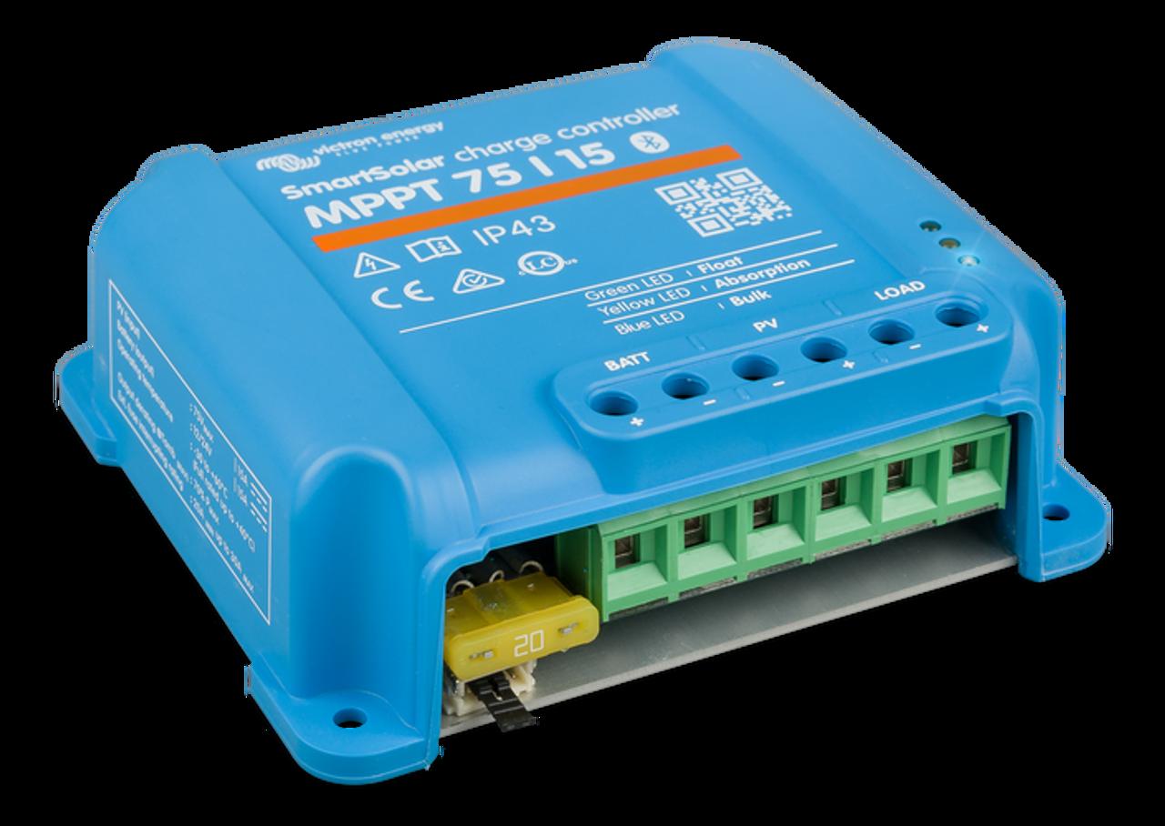 Victron SmartSolar MPPT 75/15 Solar Charge Controller - Left