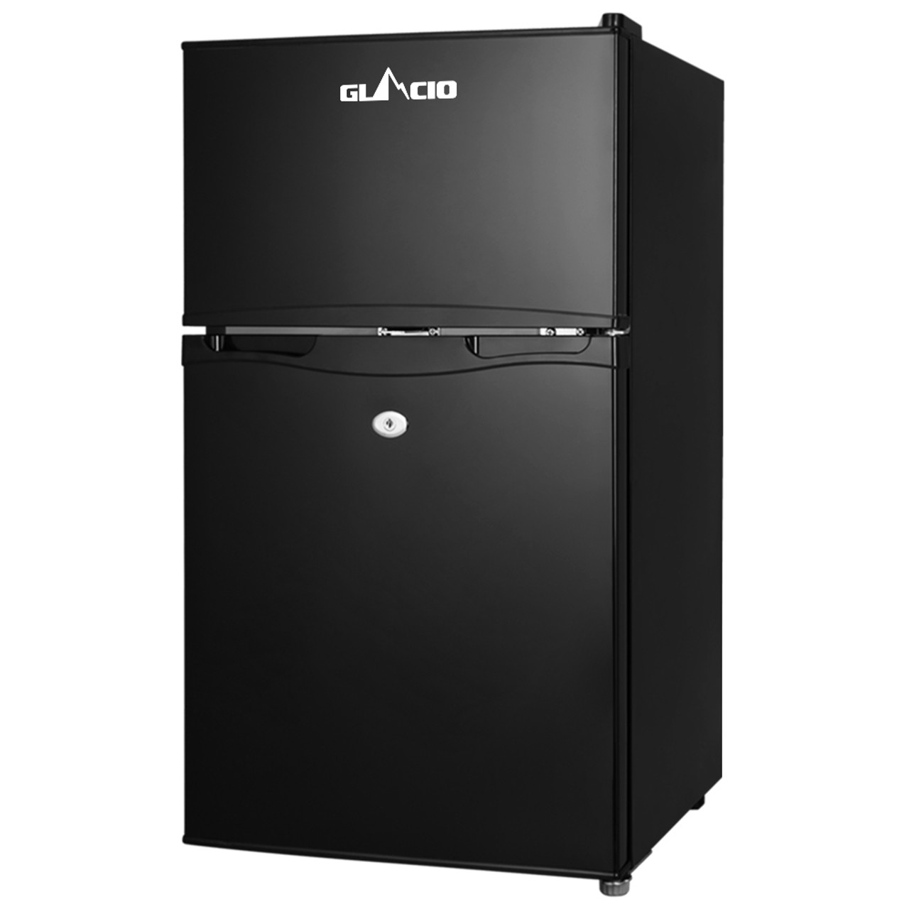 Glacio 90L Fridge Freezer Upright 12V/24V/240V Caravan 4WD Car Camping - Black