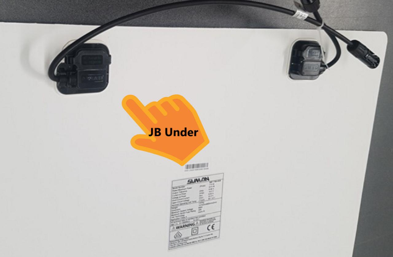 Sunman eArc 100W - Semi-Flexible Solar Panel - Frameless - Junction Box underside