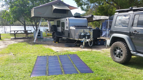 Rolasolar 200 Watt  Rollable Solar Charge Kit Blanket Awning