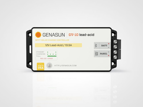 GV-10 | 140W 10.5A Genasun MPPT Solar Charge Controller - Pb - Front