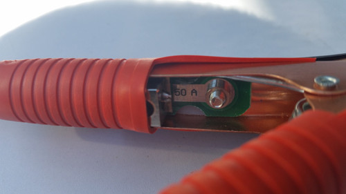 Battery Clamp to Anderson (Grey) Plug lead - 4mm2 Solar Cable
