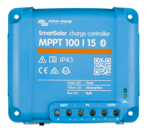 Victron SmartSolar MPPT 100/15 Solar Charge Controller - Top