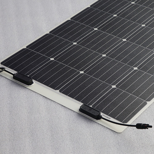 Sunman eArc 100W - Semi-Flexible Solar Panel - Frameless - Junction Box on Top
