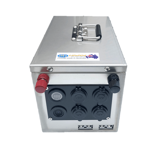 BWB 12.8V 100Ah 1280WH Lithium Iron LiFePO4 Deep Cycle Battery Stainless Box with Accessories
