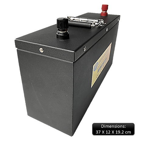 BWB 12.8V 100Ah 1280WH Lithium Iron LiFePO4 Deep Cycle Battery Stainless Powder Coated SLIM Box