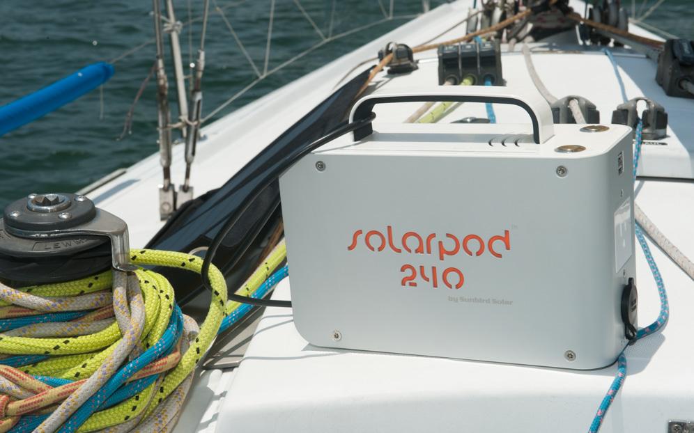 Solarpod 240 on Yacht