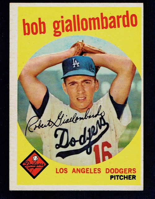 1959 Topps #321 Bob Giallombardo Optioned EX
