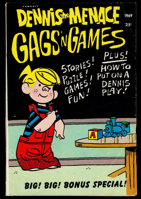 1969 Fawcett Dennis The Menace Gags and Games #66 VG-