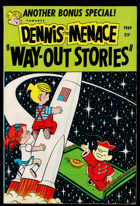 1969 Fawcett Dennis the Menace Way Out Stories #73 VG+