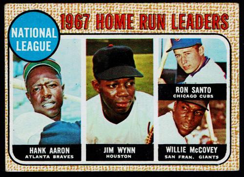 1968 Topps #005 NL Home Run Leaders Aaron Santo McCovey VGEX