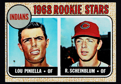 1968 Topps #016 Indians Rookies Piniella EX