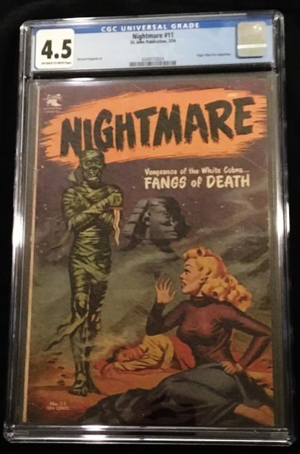 1954 St. John Nightmare #11 CGC 4.5
