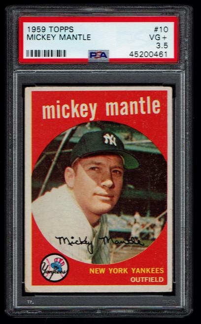 1959 Topps #010 Mickey Mantle PSA 3.5