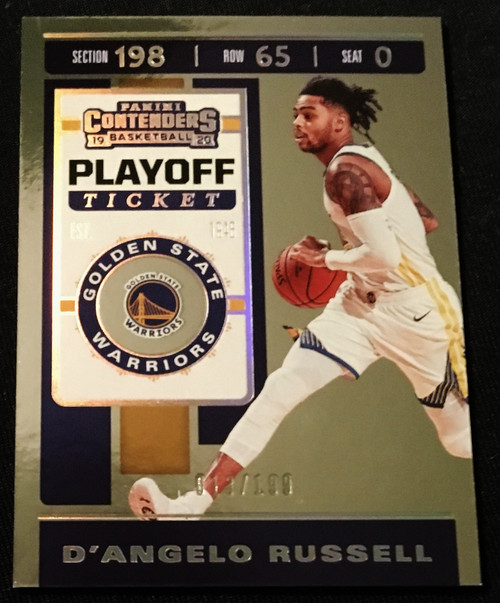 2019 Panini Contenders Playoff Ticket #21 D'Angelo Russell #013/199  NMMT or Better