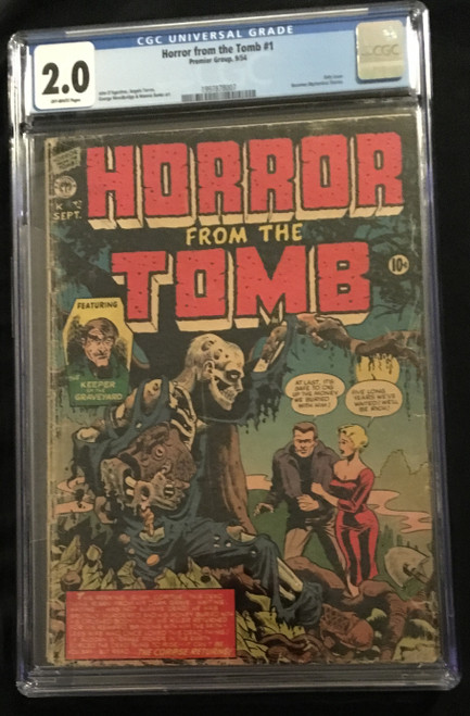 1954 Premier Group Horror From The Tomb #1 CGC 2.0