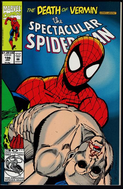 1992 Marvel The Spectacular Spider-Man #196 VF+