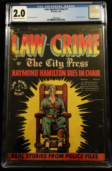 1948 Essenkay Law Against Crime #1 CGC 2.0
