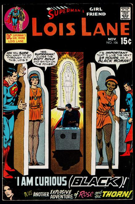 1970 DC Superman's Girlfriend Lois Lane #106 FN-