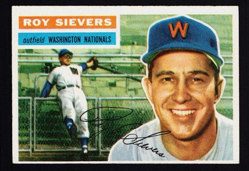1956 Topps #075 Roy Sievers WB EX