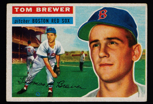 1956 Topps #034 Tom Brewer WB VGEX