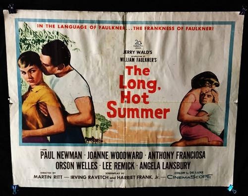 1958 The Long Hot Summer Original Movie Poster 22 x 28 Paul Newman Joanne Woodward