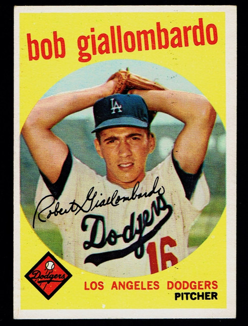 1959 Topps #321 Bob Giallombardo No Option EX