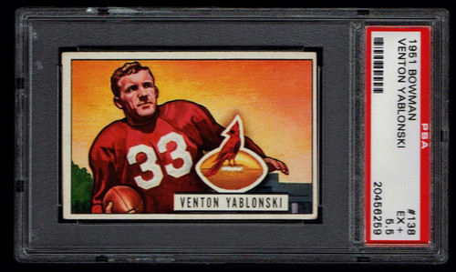 1951 Bowman #138 Venton Yablonski PSA 5.5