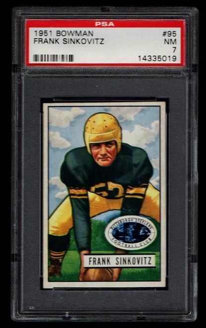 1951 Bowman #095 Frank Sinkovitz PSA 7